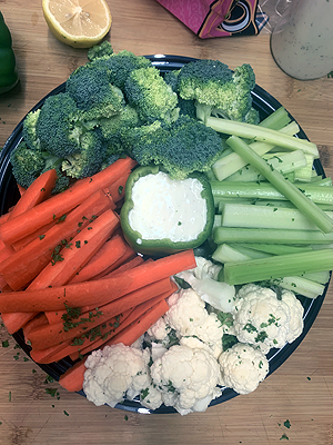 Veggie Platter with Ranch Dressing